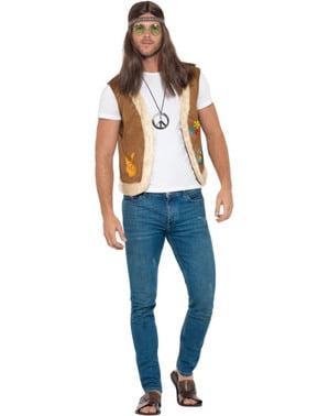 Gilet hippie marrone