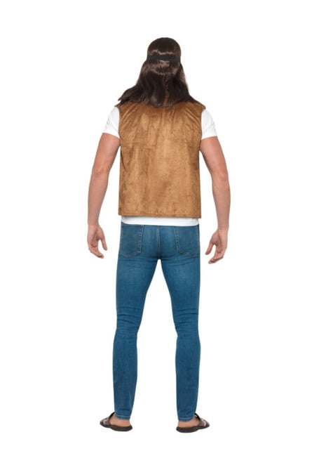 Chaleco hippie marrón para adulto - original