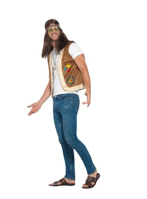Chaleco hippie marrón para adulto - traje