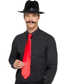 Corbata de gánster roja para adulto
