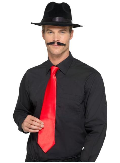 Gravata de gangster vermelha para adulto