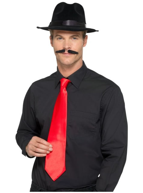 Red gangster tie for adults