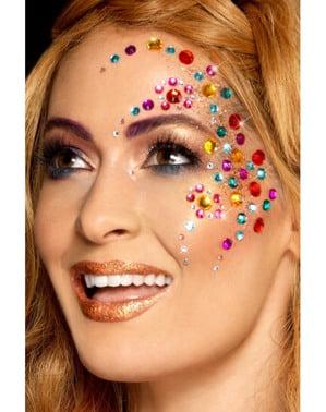 Conjunto de 100 joias faciais