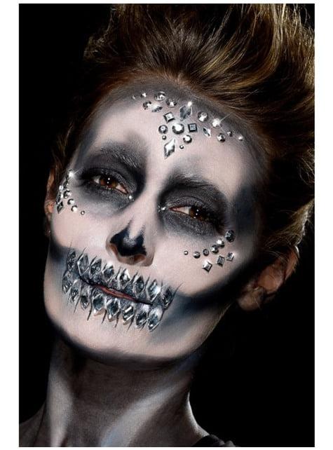 100 bijoux visage argentés