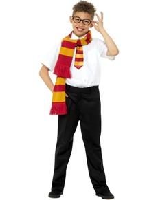 Kit disfraz de mago Harry infantil