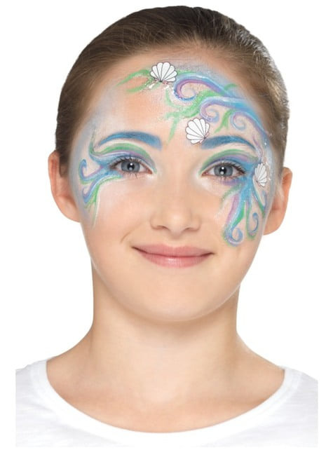 Kit de maquillaje azul infantil