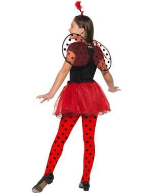 Mariehøne kostume sæt til piger