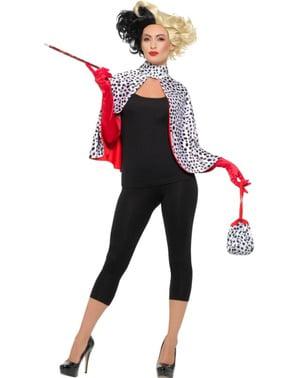 Cruella skurke kostyme sett til dame