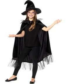 Kit disfraz de bruja para niña