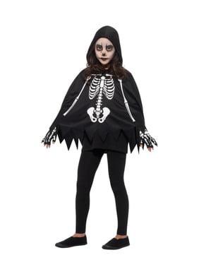 Skelett Poncho für Kinder