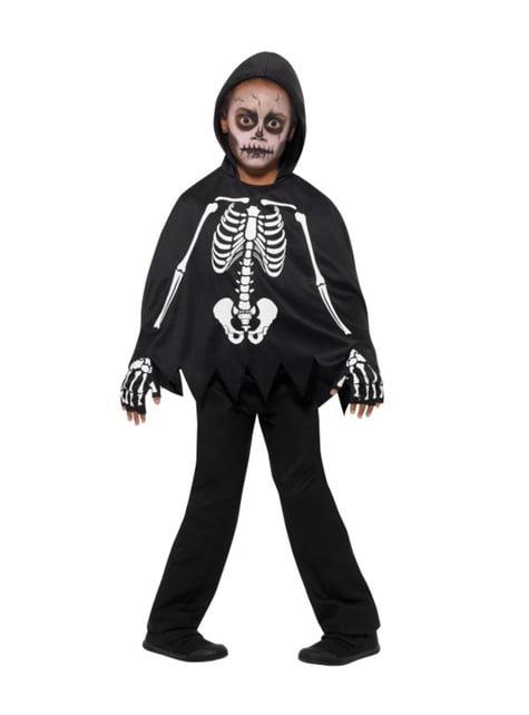Poncho de esqueleto infantil - infantil