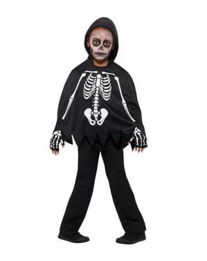 Poncho squelette enfant