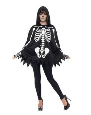 Poncho squelette adulte