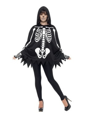 Skeleton poncho for adults