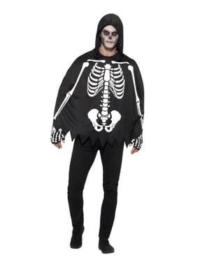 Skelet poncho voor volwassenen