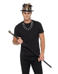 Kit disfraz de maestro vudú para adulto