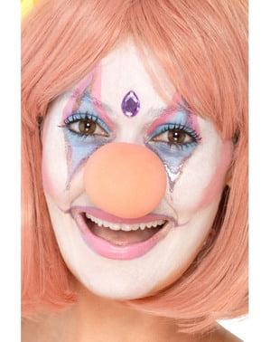 Pink lille klovne næse til voksne