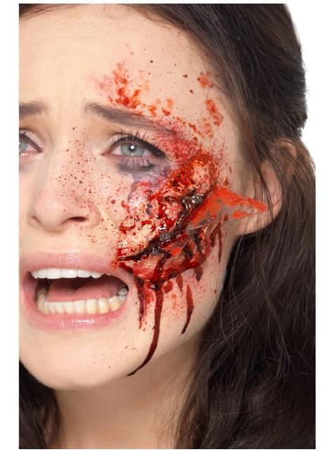 Herida de corte putrefacto de zombie