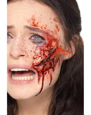Ferida de corte putrefacto de zombie