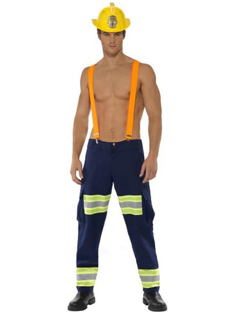 Секси червен мъжки костюм на пожарникар, Fever