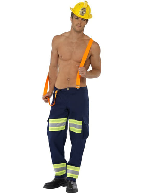 Disfraz de bombero fogoso Fever para hombre