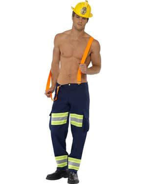 Fever brandmandskostume til mænd
