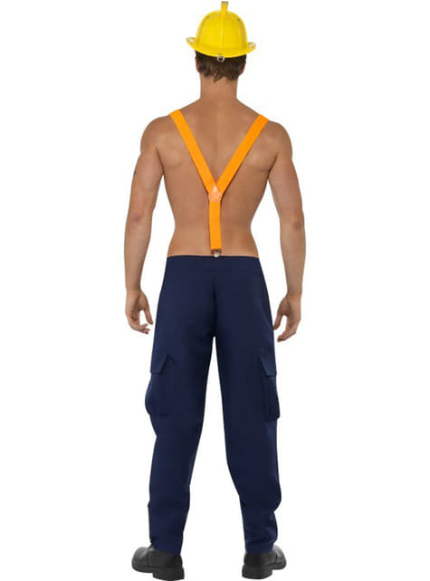 Fever red hot fireman Man Adult Costume