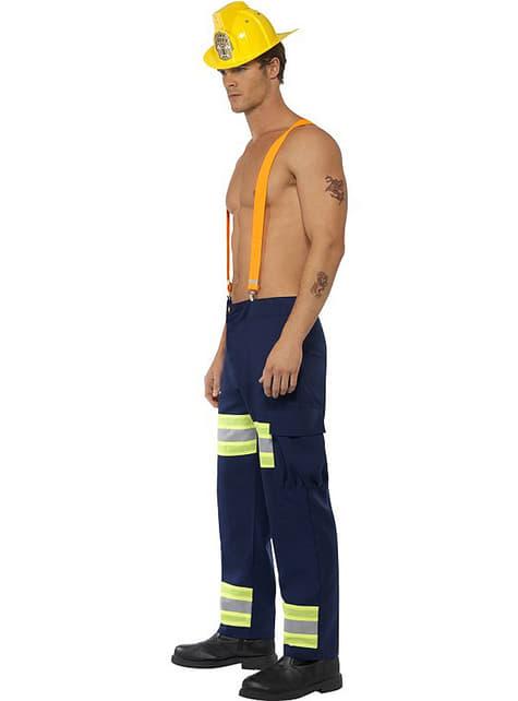 Disfraz de bombero fogoso Fever para hombre - traje
