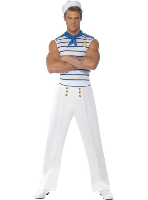 Disfraz de marinero francés Fever para hombre