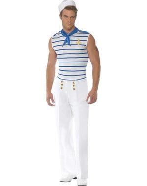 Franse Matroos Fever Kostuum Voor Mannen