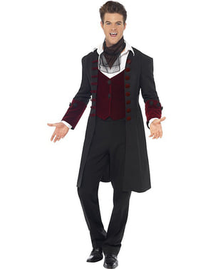 Треска готик вампир Човек Възрастен костюм