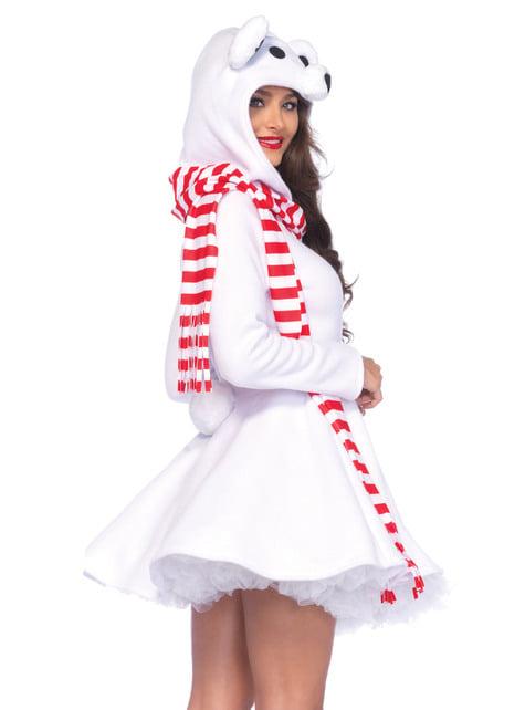 Disfraz de oso polar sexy para mujer