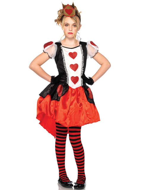Disfraz de reina de los corazones para adolescente