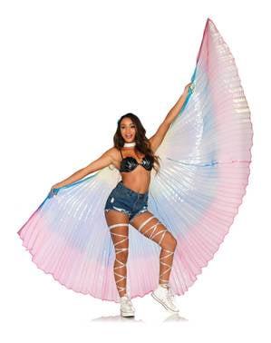 Wielkie tęczowe skrzydła
