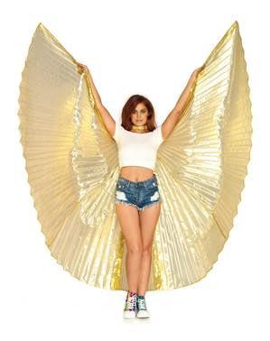 Riesige goldene Flügel