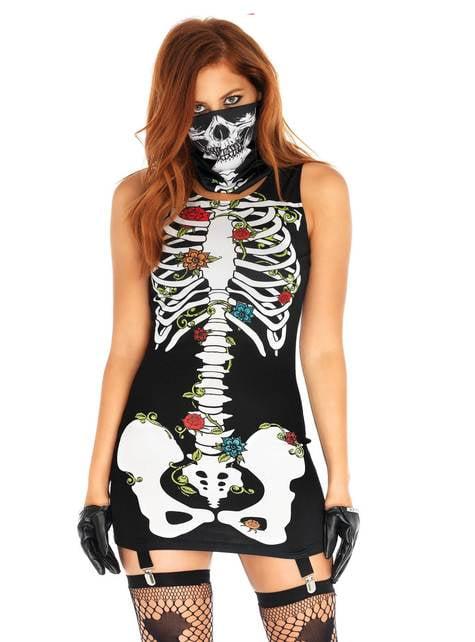 Disfraz de Bones-n-Roses para mujer