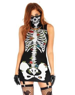 Bones-n-Roses kostuum voor vrouw