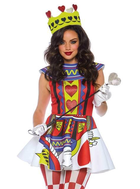 Disfraz de reina de las cartas para mujer