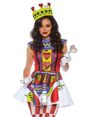 Kort dronning kostume til kvinder
