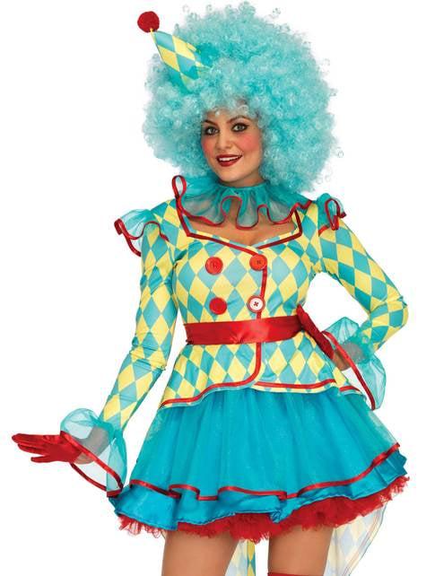Carnival clown costume for women