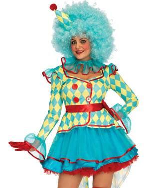 Disfraz de payaso de carnaval para mujer