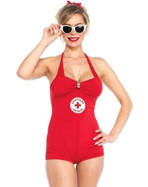 Sexy strandwacht kostuum voor vrouw