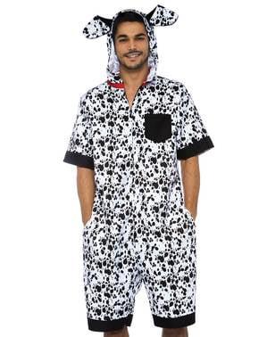 Dalmatiner onesie kostyme til menn