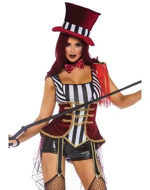 Fato de domadora de circo sexy para mulher
