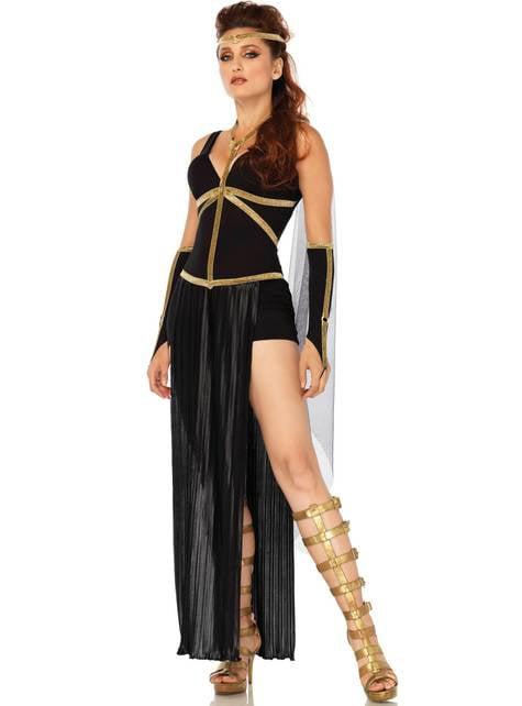 Fato de gladiadora escura para mulher