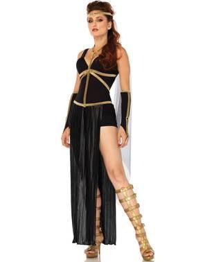 Donker gladiator kostuum voor vrouw