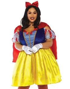 Dámský kostým plus size sexy Sněhurka