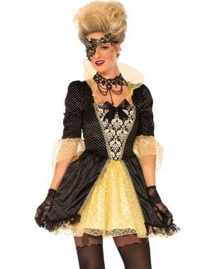 Venetiansk karneval kostyme til dame