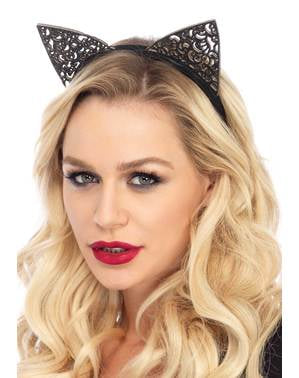 Elegante kat haarband voor vrouw