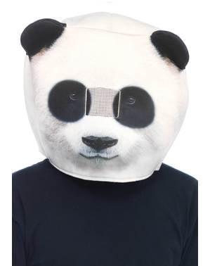 Mască de urs panda din spumă pentru adult